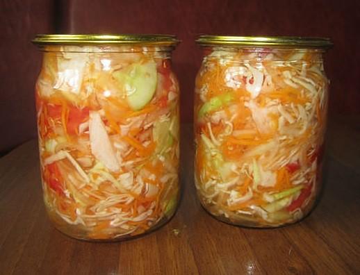 салат из помидор и капусты на зиму
