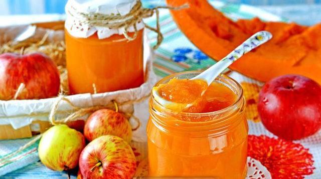 Пюре из тыквы и яблок на зиму