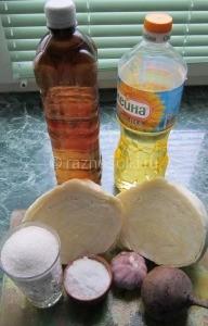 ингредиенты для салата из свеклы