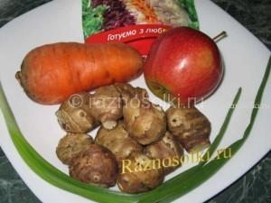 Ингредиенты овощного салата