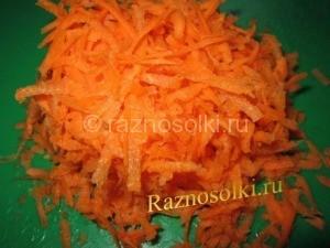 Измельченная морковь