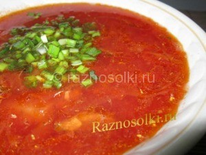 борщ овощной с килькой