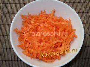 морковь шинкованная