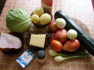 Ингредиенты овощной запеканки