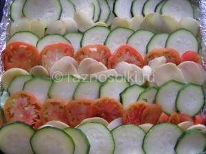 овощи рядами