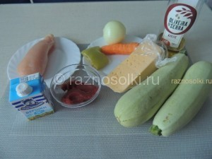 продукты для фарширования кабачка