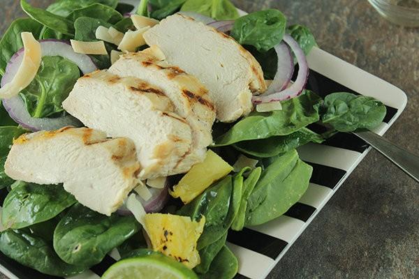 салат курица со шпинатом
