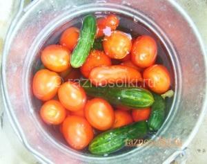свежесобранные овощи