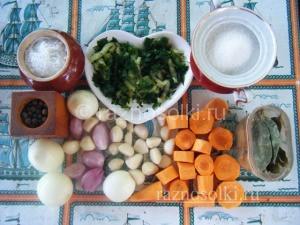 Набор овощей для консервирования