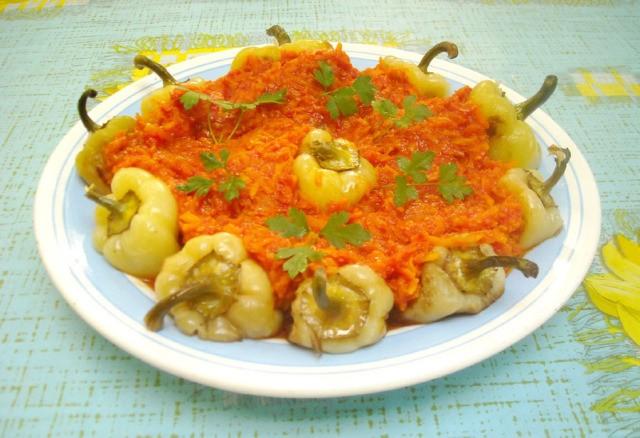 перец под морковной шубой