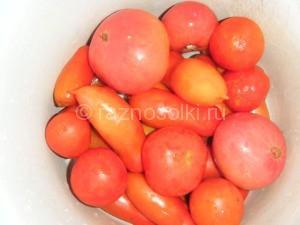 помидоры разнокалиберные