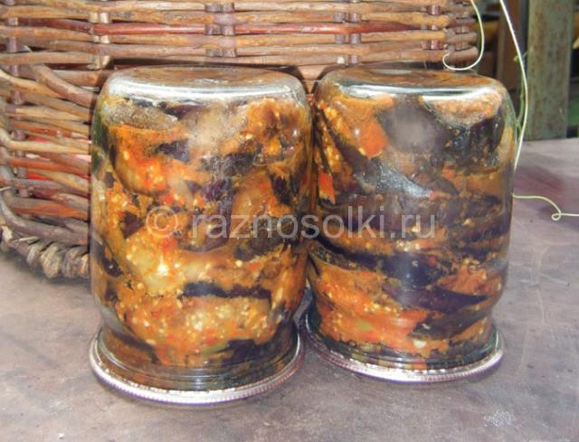 закуска из консервированных баклажан на зиму