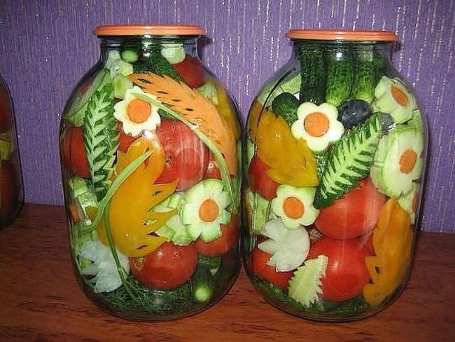 украшение консервированных овощей