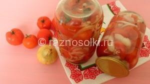 салат из помидор с луком