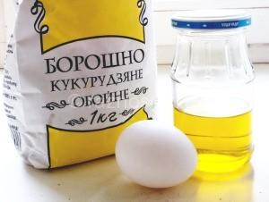 мука, масло, яйцо