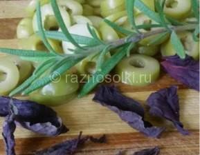 оливки и базилик