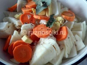 морковь и имбирь в капусте