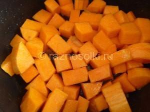 тыквенные кубики в сладком сиропе