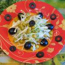 салат из капусты и оливок