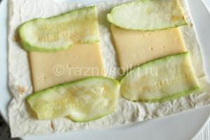 лаваш с кабачками и сыром