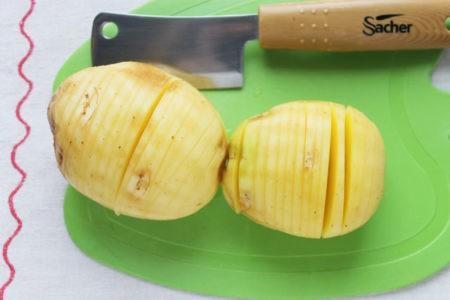 Нарезка картошки гармошкой