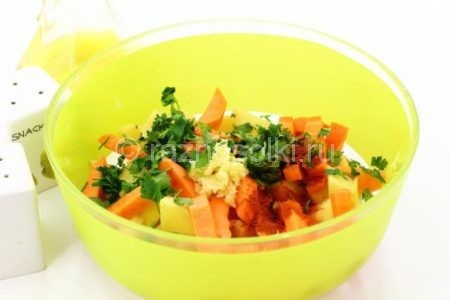 Овощи с пряностями
