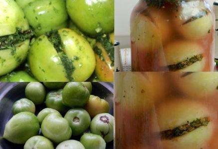 Консервирование зеленых помидор