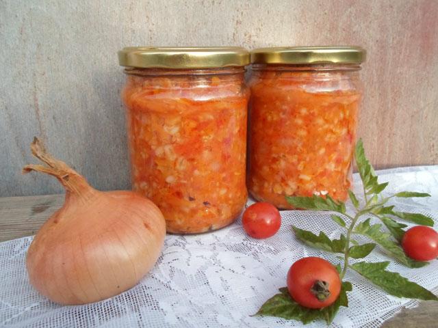 Салат на зиму с перловкой и овощами пошаговый рецепт с фото