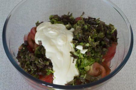 Сметана в салате
