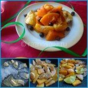 Жареная тыква с мандаринами