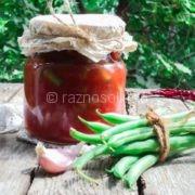 Стручковая фасоль в томатном соусе