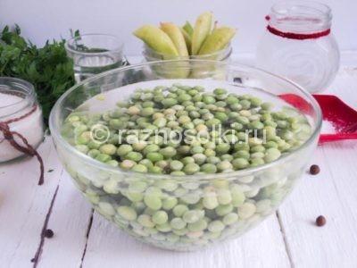 Замоченный зеленый горошек