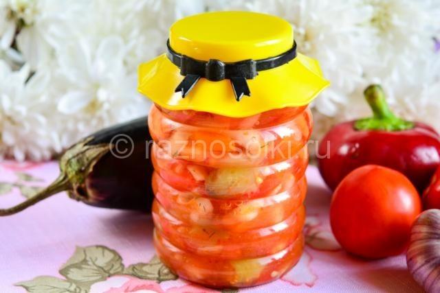Лечо из баклажан и овощей