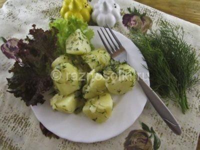 Оварной молодой картофель с укропом