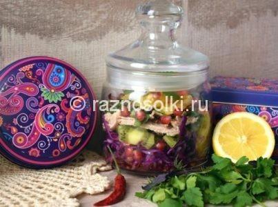 Капустный салат в банке для работы