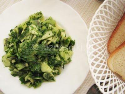 Салат из огурца и киви