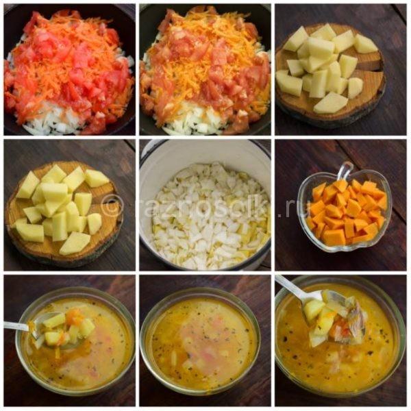Тыквенный суп с пекинской капустой