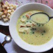 Суп с сухариками