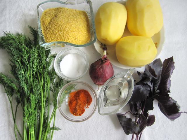 ингредиенты для блюда их картофеля