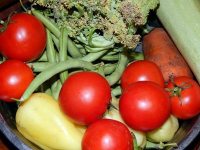 Свежие овощи для переработки