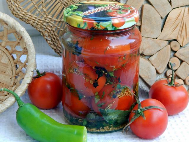 Консервированные помидоры с горчицей