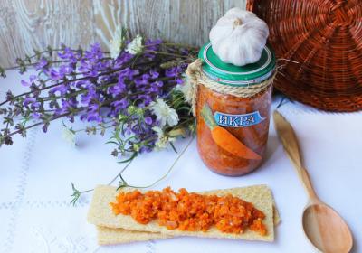 икра из моркови с луком