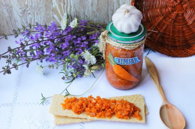 икра из моркови с луком на зиму диетическая без сахара