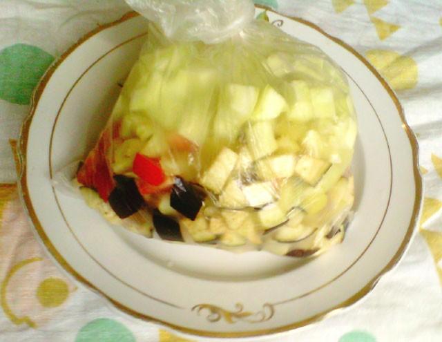 замораживаем овощи для рагу
