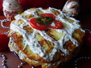 торт из кабачков и помидор